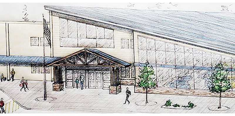 Photo Credit: SUBMITTED - A step toward replacing aging pool complex - An artist rendering shows the concept for a new Chehalem Aquatic Center on Haworth Avenue. The Chehalem Park and Recreation District will go to the voters in November to fund the $20 million project via general obligation bonds.
