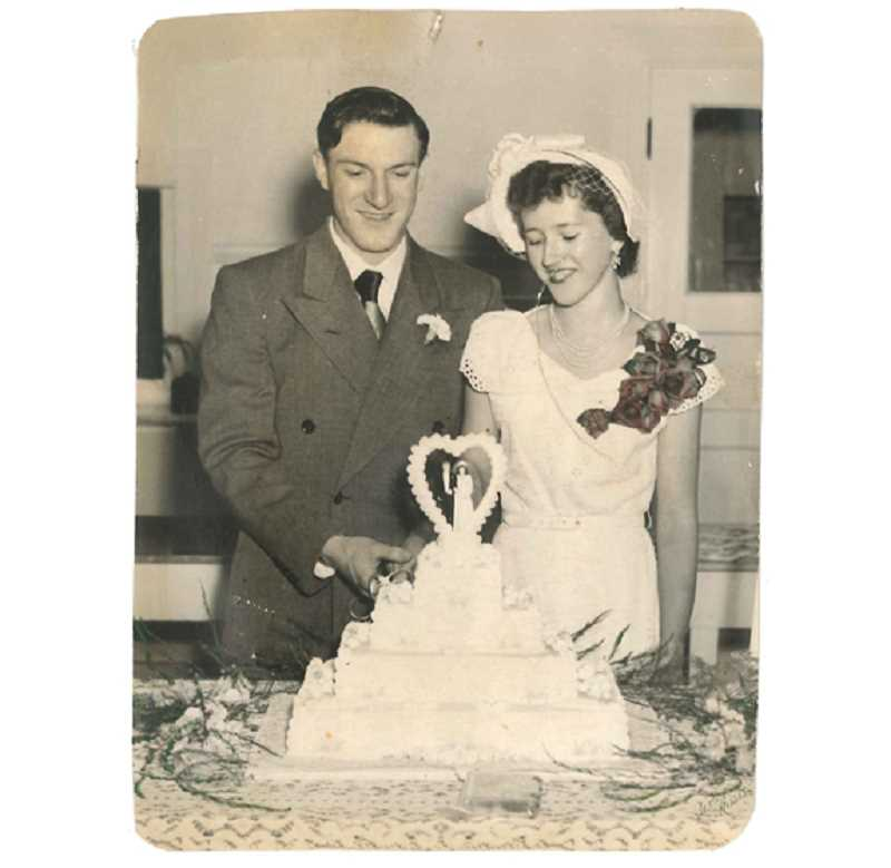 Howard and DeLoris Naegeli on their wedding day.