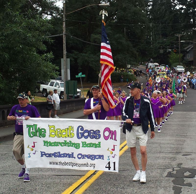 Photo Credit: SUBMITTED PHOTO - The Beat Goes On formed three years ago with the intention of giving forgotten musicians a chance to play again. This weekend, the local band will perform for the third consecutive year in the Multnomah Days Parade.