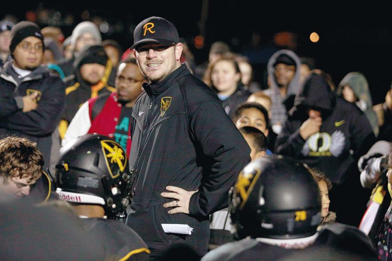 Photo Credit: TRIBUNE FILE PHOTO: JONATHAN HOUSE - Christian Swain, Roosevelt High football coach, has helped swell the success and pride at the North Portland school, athletically and in other ways.