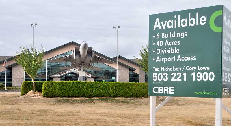 Photo Credit: GARY ALLEN - Dwindling empire - In the latest move by Evergreen International Aviation, the McMinnville campus is now for sale. The listing price is $20 million as a package or $23 million if the six buildings are purchased individually.