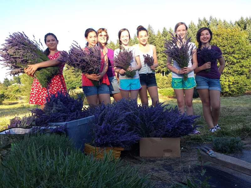 Photo Credit: SUBMITTED PHOTO - The Lavendar Girls of West Linn made $5,000 to benefit young cancer patients last year, and used that money to grant a number of wishes.