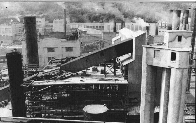 Photo Credit: PHOTO COURTESY: CCHS - 1956: Reconstruction of Mill C, expanded acid tower.