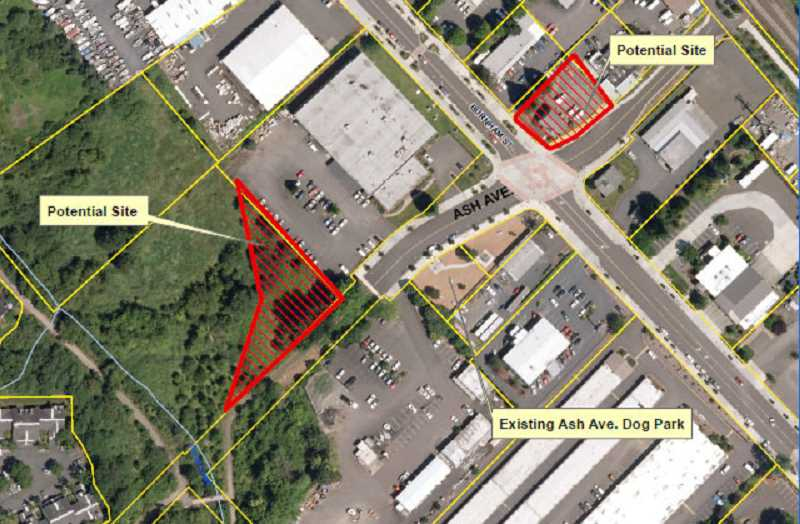Plans are to move the dog park to one of two sites across the street, either undeveloped property near B&B Print Source, or another temporary site on Ash Avenue and Burnham Street.