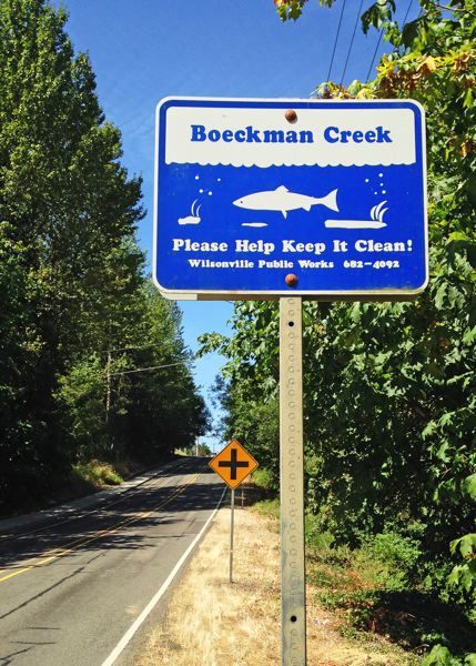 Photo Credit: SPOKESMAN PHOTO: JOSH KULLA - Boeckman Creek is one of many features in Wilsonville bearing the family name.
