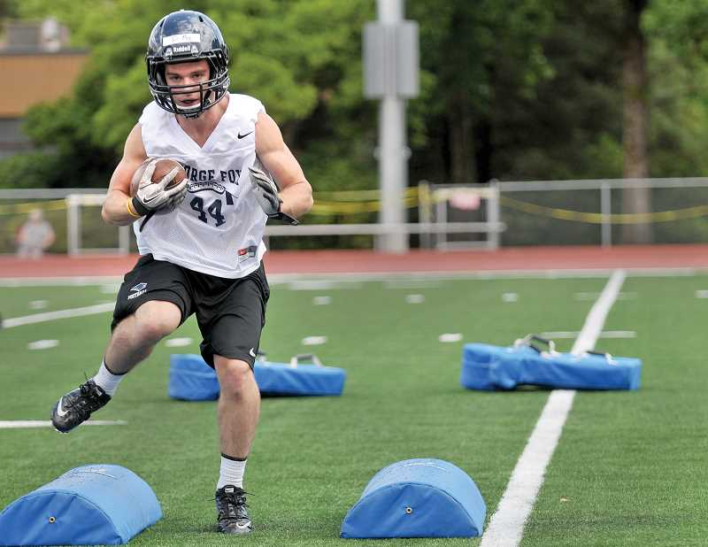 Photo Credit: GARY ALLEN - Preparation - George Fox players continue practicing this week in anticipation of the program's first game of the season against Arizona Christian Sept. 6 at Stoffer Family Stadium.