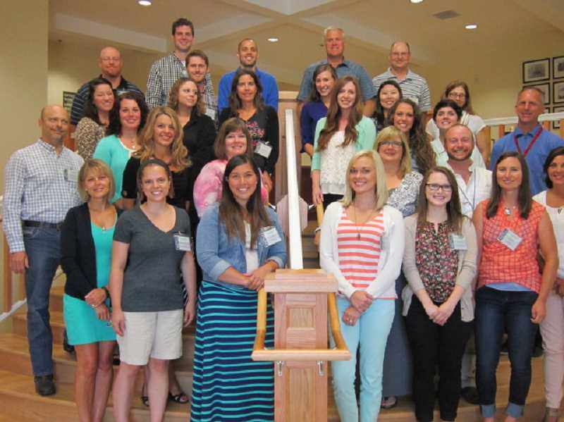 Photo Credit: SUBMITTED PHOTO - The West Linn-Wilsonville School District added 22 new teaching positions over the summer. The school board voted in June to fund 16 new FTE, and increased enrollment over the summer led the district to create an additional six FTE. These are the new teachers who will be working in West Linn schools.