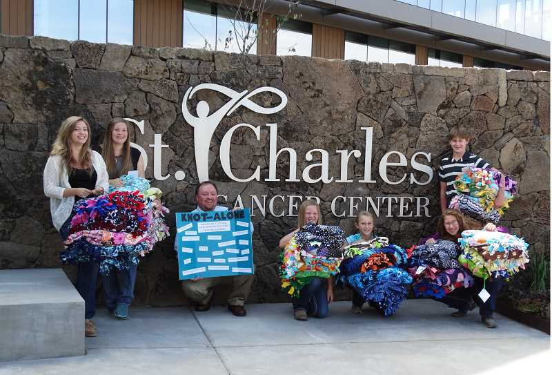 Photo Credit: SUBMITTED PHOTO - Just some of the blankets that were delivered to patients.