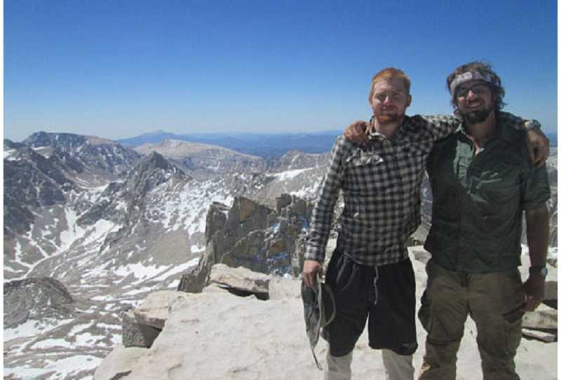 Photo Credit: SUBMITTED PHOTO - From left, Sam and Paul Lantow climb Mount Whitney in early June.