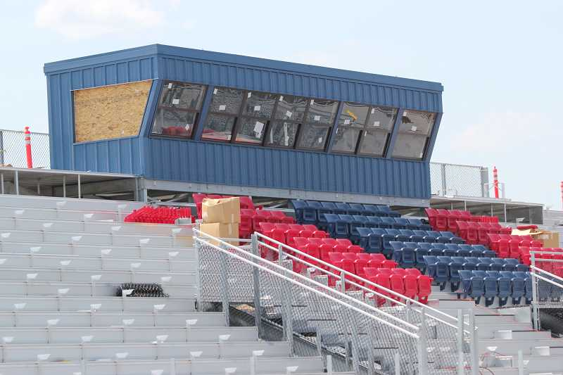 Photo Credit: HOLLY M. GILL - The Buff Boosters club is planning to sell premium seats in the football stadium as a fundraising project.