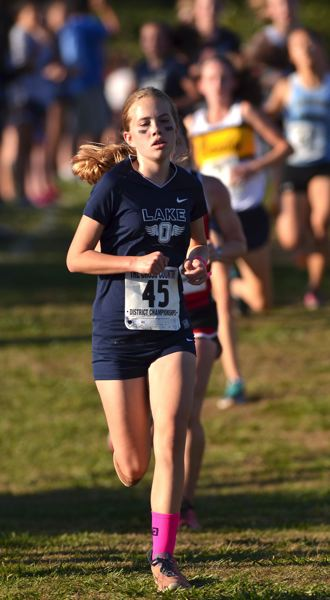 Photo Credit: VERN UYETAKE - Dulcie Jones was Lake Oswego's top finisher at districts for the girls team last year and she returns to a strong squad that hopes to qualify for state.