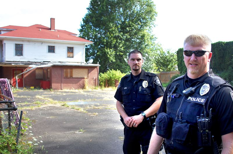 Photo Credit: CONTRIBUTED: CITY OF GRESHAM - Officers Dan Estes, left, and Jim Leake have formed a new special unit focusing on neighborhood policing for the Gresham Police Department.