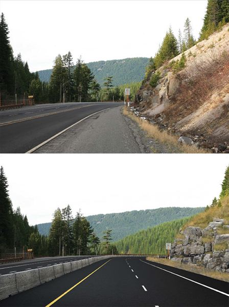 Photo Credit: CONTRIBUTED PHOTO - Several curves of Highway 26 are narrow and cut close to rock cliffs. Construction will work to push back the rocks and widen the lanes.