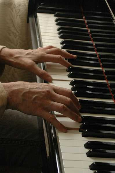 Photo Credit: ESTACADA NEWS PHOTO: ISABEL GAUTSCHI - Dinsdale has had a life-long love of piano.