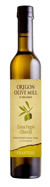 Photo Credit: SUBMITTED PHOTO - Sample Oregon Olive Mills Frantoio Extra Virgin Olive Oil at Red Ridge Farm in Dayton, Ore.