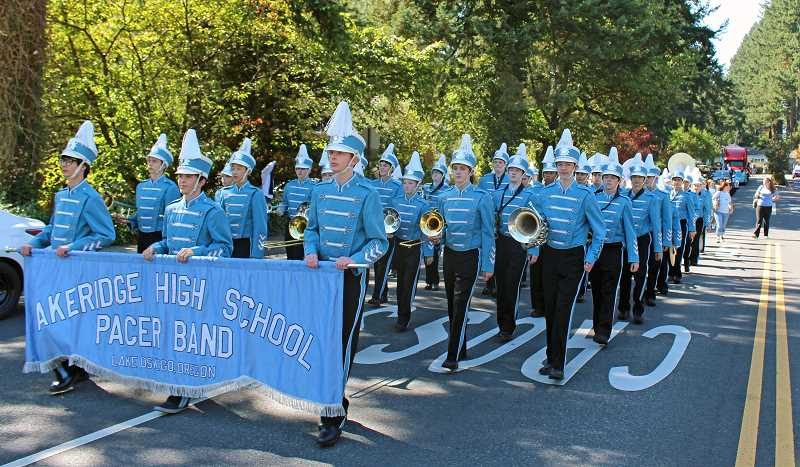 Photo Credit: SUBMITTED PHOTO: COREY ALSTON - The Lakeridge band provided the music for the parade last week.