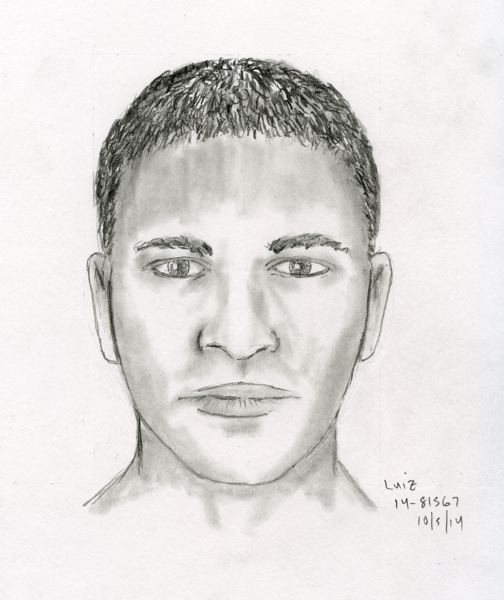 Photo Credit: PORTLAND POLICE BUREAU - Sketch of suspect in Oct. 4 home invasion.