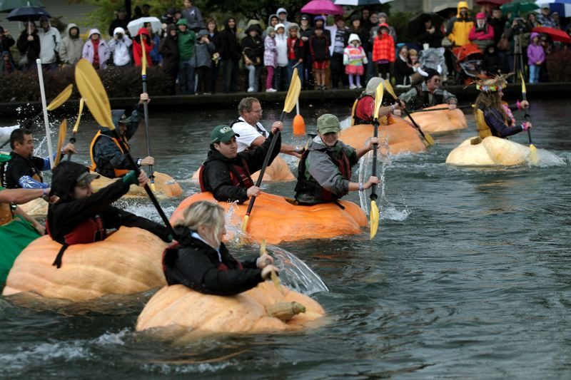 Photo Credit: FILE PHOTO - A record 20 giant pumpkins are expected to make their way to this year's Pumpkin Regatta, meaning a record number of paddlers will get to partake in the fun.