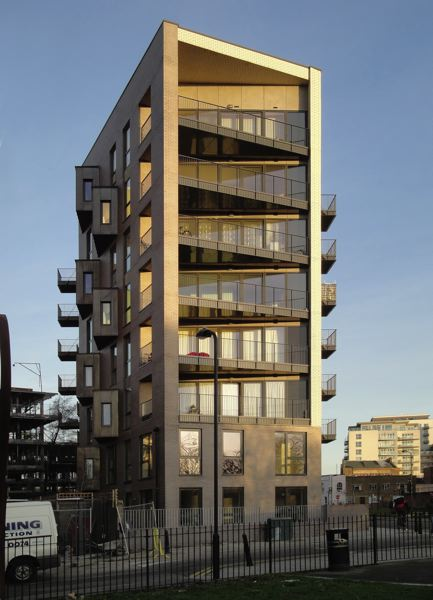 Photo Credit: COURTESY ROXANNE WARD - Bridgport House in London is made out of cross-laminated timber.