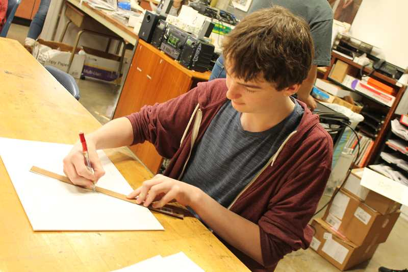 Photo Credit: SPOKESMAN PHOTO: KATE HOOTS - WHS sophomore Zander Hill creates line drawings and likes to focus on the small details.