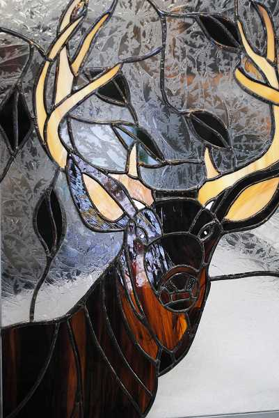 Bachmanns work ranges from small ornaments to larger, more intricate pieces such as this stag.