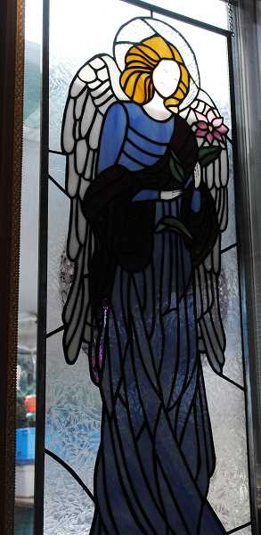 Bachmann has created several religious stained glass images for churches.