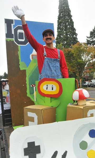 Photo Credit: REVIEW PHOTO: VERN UYETAKE - One Associated Student Body member is Mario from Super Mario Bros.: Alex Shakerin.
