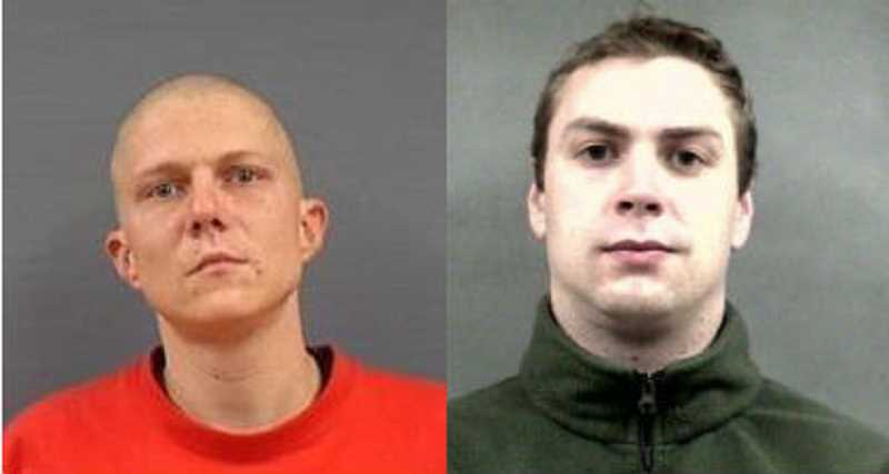 Photo Credit: NEWBERG-DUNDEE POLICE DEPARTMENT - Robert Thomas Jolliff (left) and Noah Daniel Phillips were arrested Monday for the robbery of Muchas Gracias.