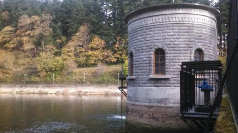 Photo Credit: KOIN 6 NEWS - One of the historic Mt. Tabor reservoirs that will be replaced by underground stoage tanks.