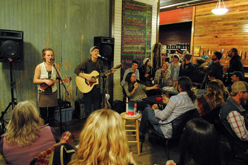 Photo Credit: NEWS-TIMES PHOTO: STEPHANIE HAUGEN - Waltz Brewery is becoming a hot spot in town as they host more live music in the evenings.