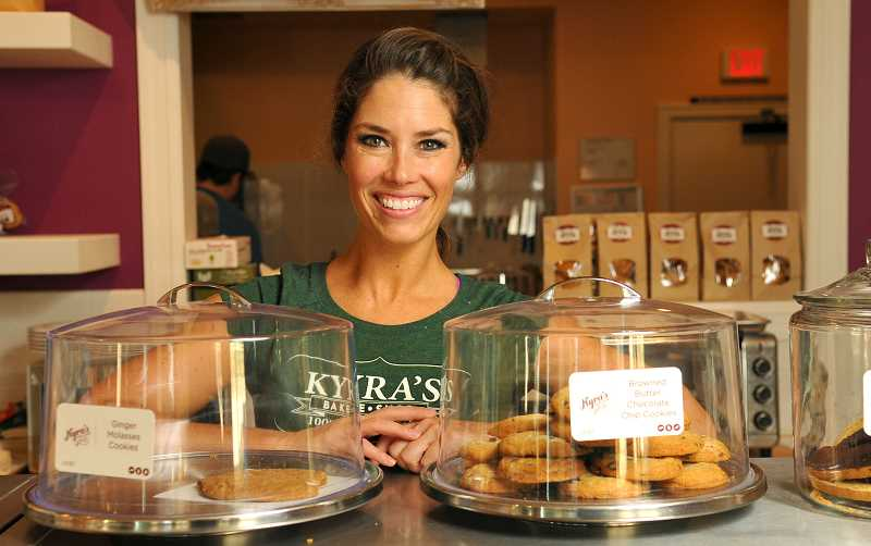 Photo Credit: RFEVIEW PHOTO: VERN UYETAKE - Kyra Bussanich may have moved her bake shop to a new location, but the menu still includes gluten-free cookies and other treats.