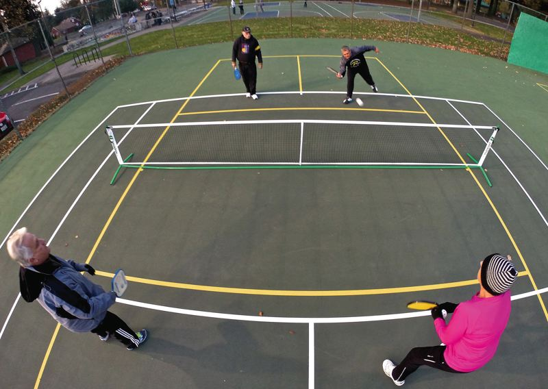 Pickleball gains popularity in tualatin parks throughout the winter