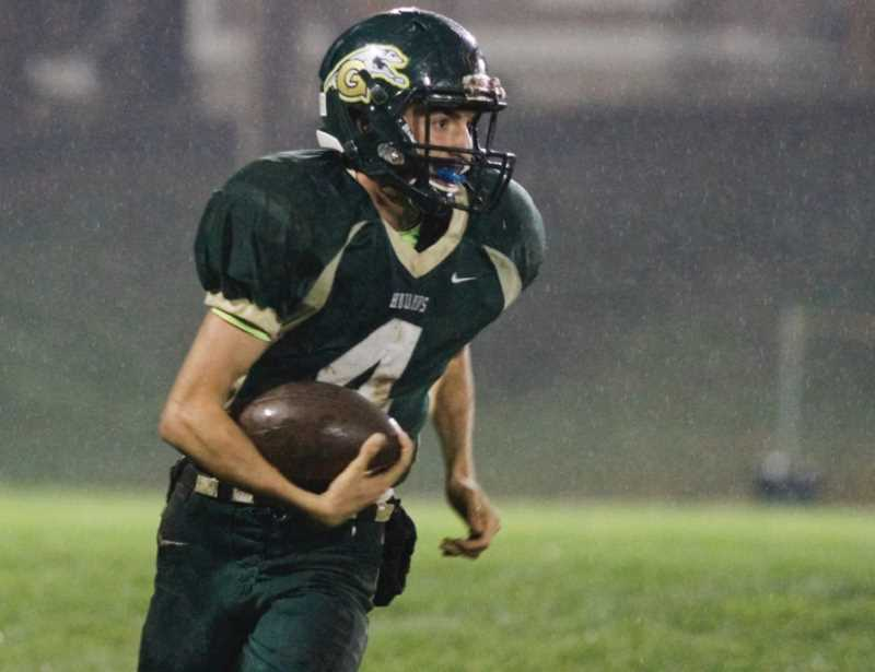 Photo Credit: NEWS-TIMES PHOTO: CHASE ALLGOOD - Gaston senior quarterback Nate Lewis was chosen as an honorable mention pick to the Northwest League all-star team, which was announced earlier this month.