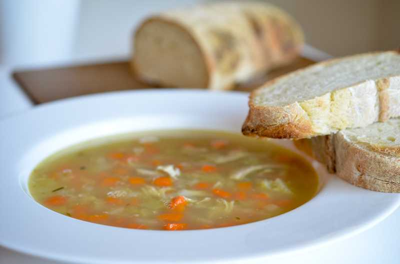 Turkey soup is a satisfying meal to eat during the days after Thanksgiving.