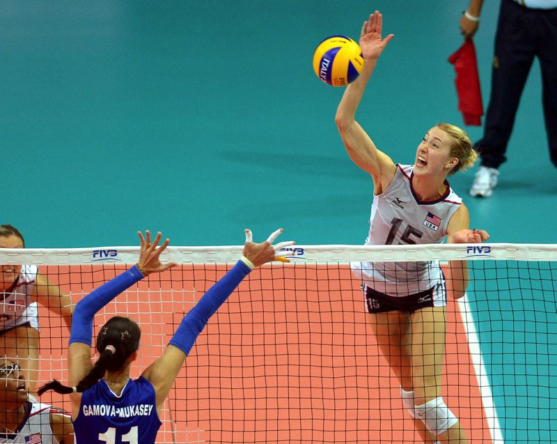 Photo Credit: COURTESY OF FIVB - Kim Hill's life has changed since she tried out for the USA womens volleyball team -- and then went on to lead the team to its first world championship. Now she's playing in at Italian pro league.