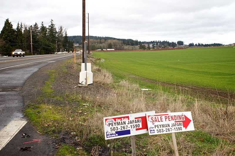 Photo Credit: TIMES PHOTO: JAIME VALDEZ - Southwest Roy Rogers Road is largely undeveloped today, but the city of Tigard is planning for major development to start as early as next summer.