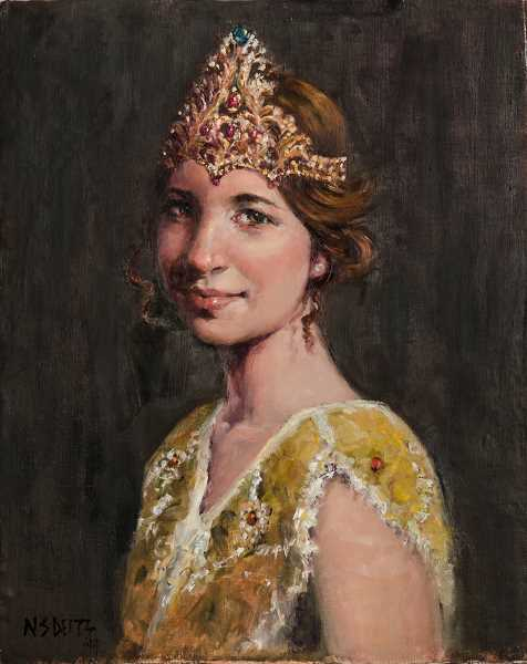 Photo Credit: SUBMITTED PHOTO - This portrait of Rose Festival Queen Emma Waibel was painted by Naomi Segal Deitz.