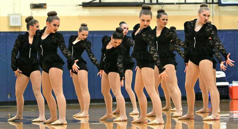 Photo Credit: REVIEW FILE PHOTO: J. BRIAN MONIHAN - Pacer dancers have performed well this season, taking home first place in the large-group Jazz category during the sixth-annual Oregon Dance and Drill Team Category Championships held earlier this month at Canby High School.