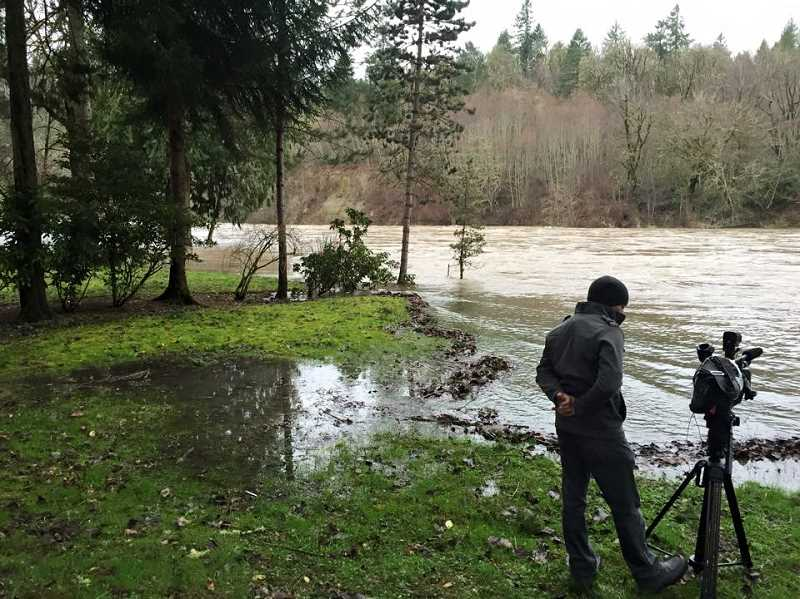 Photo Credit: COURTESY OF ESTACADA RURAL FIRE DISTRICT 69 - Luckily, the predicted major flooding of the Clackamas River over the weekend did not come to pass.