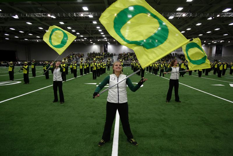 The Oregon band takes formation.
