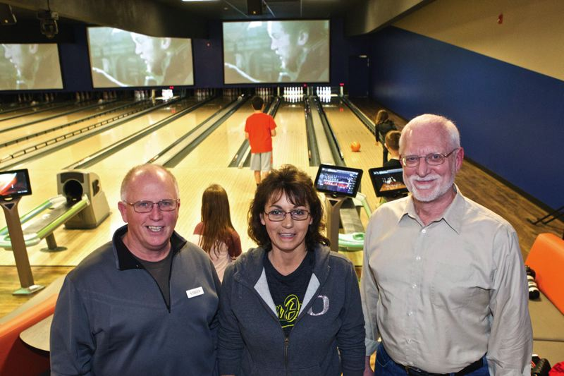 Photo Credit: JAIME VALDEZ - Terry Pierce, left, Kathy Holmes and Ken Paton are co-owners of SuperPlay.