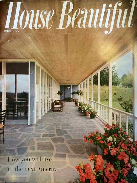 Photo Credit: SUBMITTED PHOTO - Lake Oswego's Shaw House was featured on the April 1953 of House Beautiful magazine.