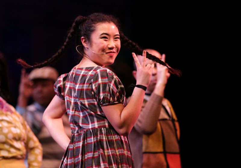 Photo Credit: TIMES PHOTO: JONATHAN HOUSE - Chie Tanaka of Beaverton plays Little Inez in the upcoming PCC musical, 'Hairspray.'