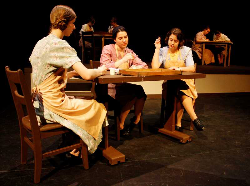 POST PHOTO: KYLIE WRAY - Sandy High's Radium Girls will present the historical drama through a simple set and dynamic lighting.