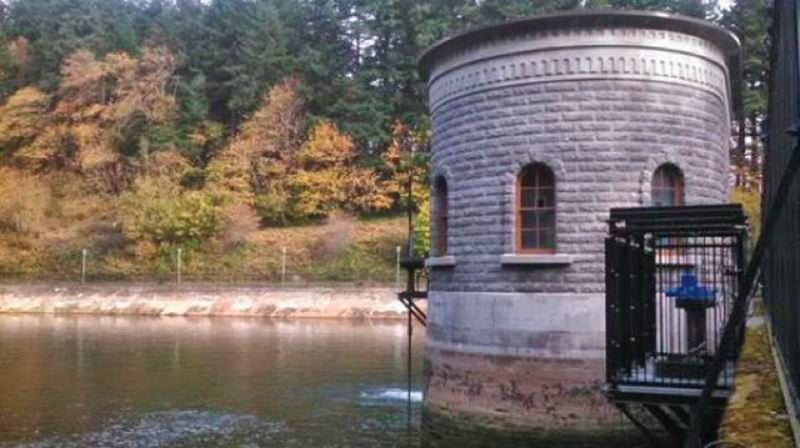 TRIBUNE FILE PHOTO - One of the historic Mt. Tabor reservoirs that will be replaced by underground storage tanks.