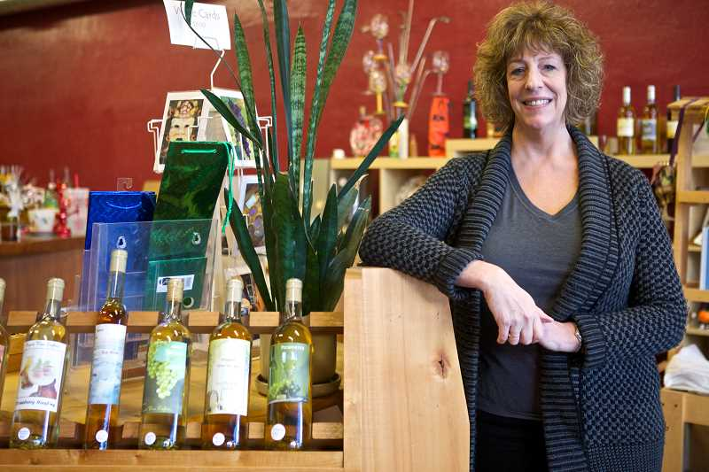 TIMES PHOTO: JAIME VALDEZ - Sharon Sands has launched a crowdfunding campaign to convert her do-it-yourself wine shop into Tigard's first wine bar.