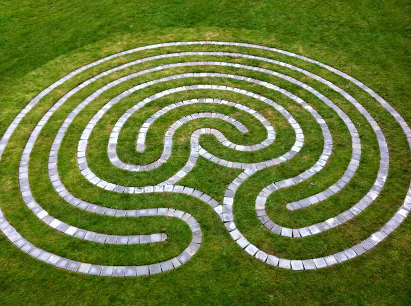 CONTRIBUTED PHOTO - Shibley designed and built this labyrinth for Mt. Tabor Presbyterian Church.