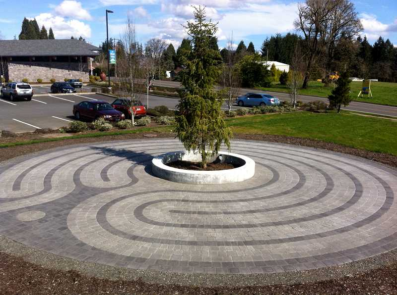 CONTRIBUTED PHOTO - Shibley designed this labyrinth under construction outside the Happy Valley City Hall.