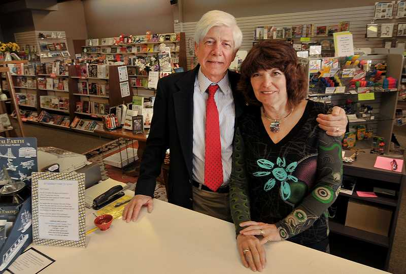REVIEW PHOTO: VERN UYETAKE - Paul and Teri Graham say they're actively recruiting a new tenant for the building that has been home to Grahams Book & Stationery since the 1960s.