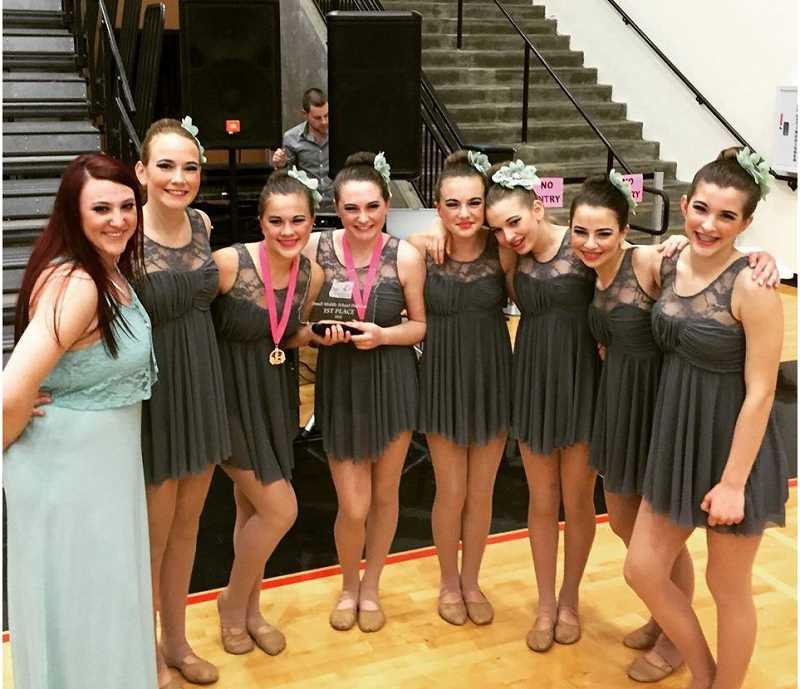 SUBMITTED PHOTO - Junior Pacer dancers land first place at state championship.